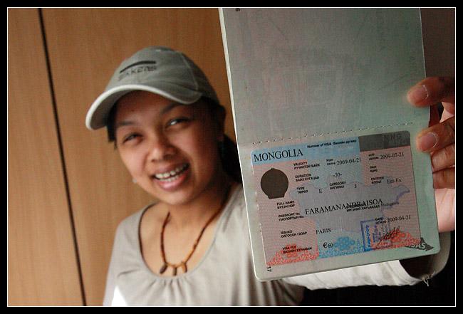 Le visa Mongol