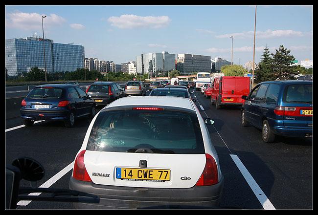 L'A4 en pleins bouchons