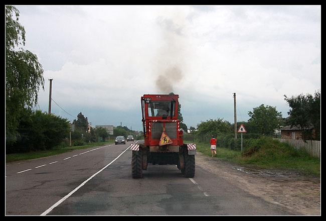 tracteur à dépasser avec les trous…