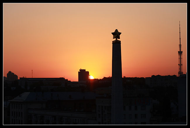 puis superbe coucher de soleil sur « l'obelisque »